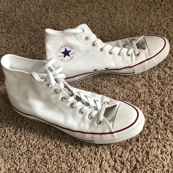 Men's Hi-Top All White Converse Sneakers
